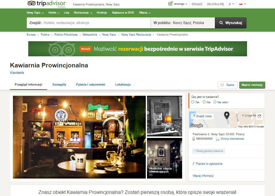 Kawiarnia Prowincjonalna TripAdvisor
