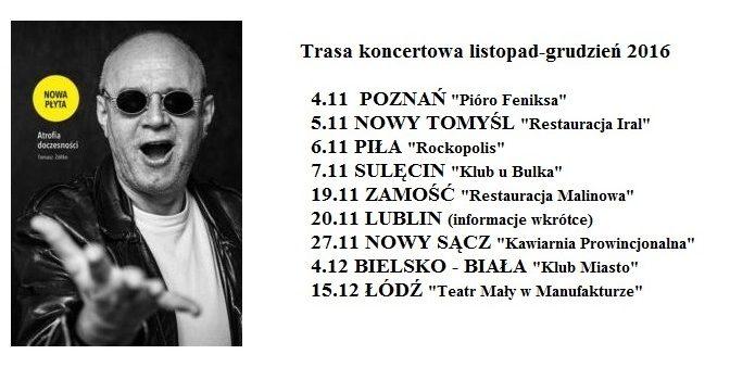 Zapraszamy na recital Tomasza Żółtko